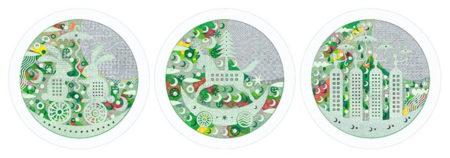 W'UP!  ★ しろこまたお個展「Exhibition No.7 -○-midori-1-」 H.P.FRANCE WINDOW GALLERY MARUNOUCHI