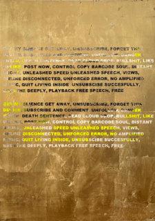 W'UP ★9月18日〜10月23日 ステファン・ブルッゲマン「ALLOW ACTION (GOLD PAINTINGS)」 KOTARO NUKAGA(六本木)